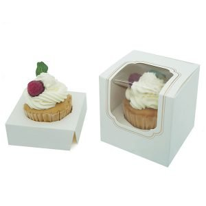 Happyhiram Cupcake box Gold White with insert